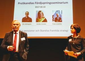 Leif Hansson och Sophie Nachemson-Ekwall ledde seminariet