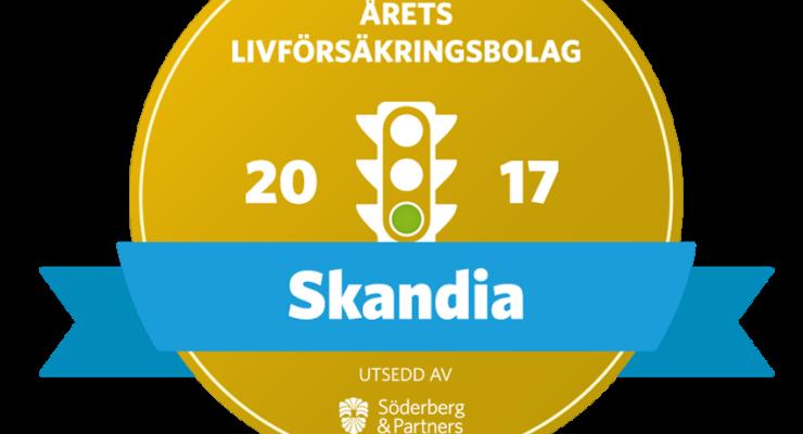 Skandia Årets livbolag och fondförsäkringsbolag