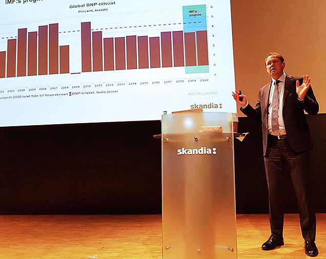 Lars-Goran Orrevall ger sin analys av kapitalmarknaden.