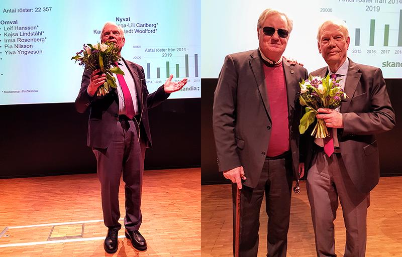 Leif Hansson överlämnar ordförandeskapet till Hans G Svensson