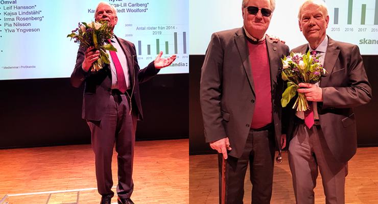 Leif Hansson tackar för sin tid som ordförande och överlämnar till ordförandeskapet till Hans G Svensson