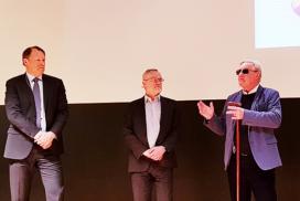 Hans G Svensson, Lars-Göran Orrevall och Lasse Ericsson i paneldebatt.